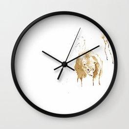 Coffee Bear Wall Clock