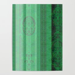 Boujee Boho Emerald Green Tapestry Print Poster