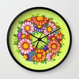 Summer Daisy Wreath Wall Clock