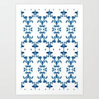 ikat Art Prints featuring Ikat by Lauren Heslop