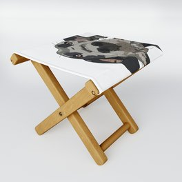 Great Dane dog in your face Folding Stool