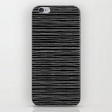 Lines Black iPhone & iPod Skin