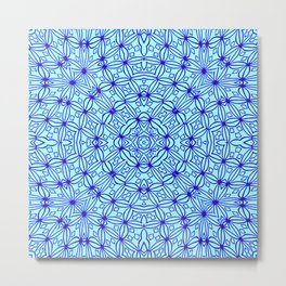 Crochet Pattern Metal Print