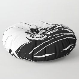 Motorcycle Race Floor Pillow