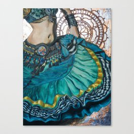 Turquoise Twirling Canvas Print