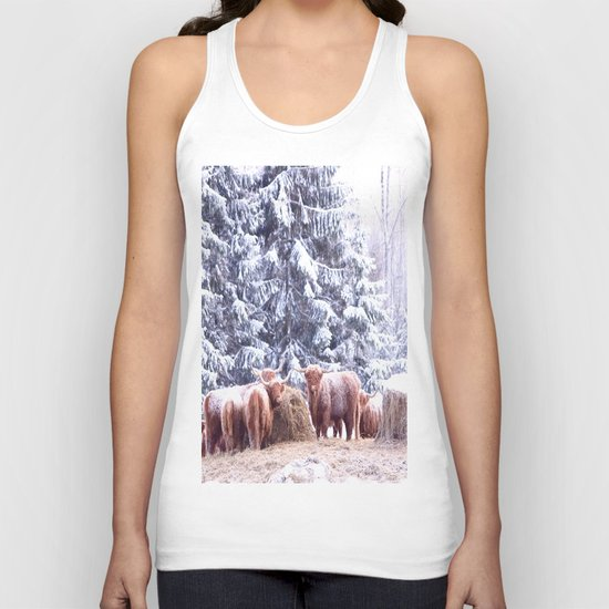West Highland Cattle Unisex Tank Top