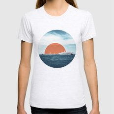 Shipping Sun Womens Fitted Tee Ash Grey SMALL
