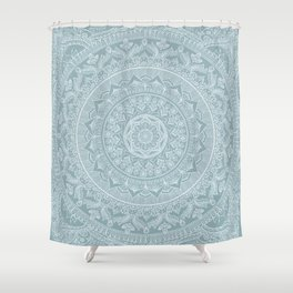 Mandala - Soft turquoise Shower Curtain