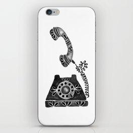 Vintage Rotary Phone – Black Palette iPhone Skin