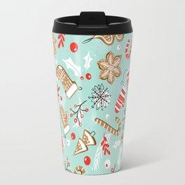 Gingerbread Dreams - Aqua Travel Mug