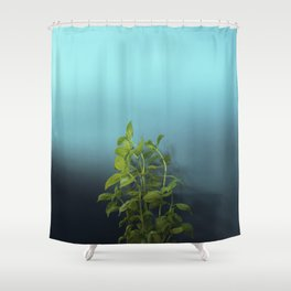 Shy and charming basil Shower Curtain