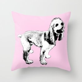 Ginger Happy Cocker Spaniel Throw Pillow