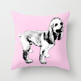 Ginger Happy Cocker Spaniel Throw Pillow