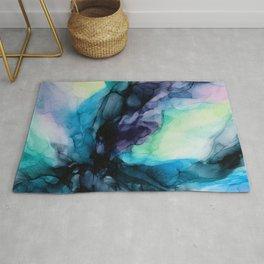 Sweet Pea Pastel Abstract Chaos | Calming Fluid Art Rug