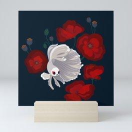 Bettas and Poppies Mini Art Print