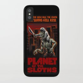 Planet Of The Sloths iPhone Case