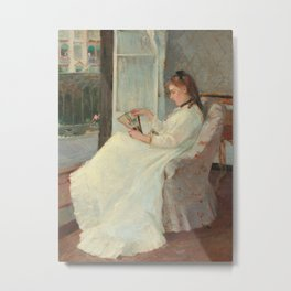 The Artist's Sister at a Window Metal Print