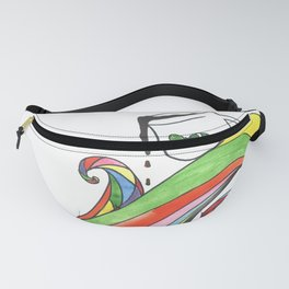 Psychedelic house wave Fanny Pack