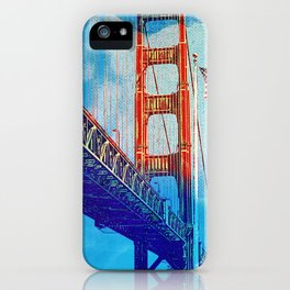 Golden Gate Bridge and the flag iPhone Case