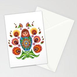 Wycinanki and Matryoshka Stationery Cards