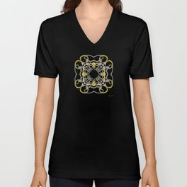 World Citizen Mandala - Chartreuse Unisex V-Neck