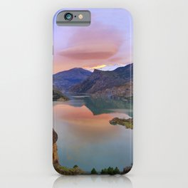 Lenticular clouds at the lake iPhone Case