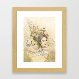 Animal princess Framed Art Print