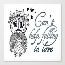 Flirtatious Owl Canvas Print