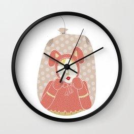 wabbit in a bag Wall Clock