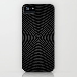 white line circle and black background iPhone Case