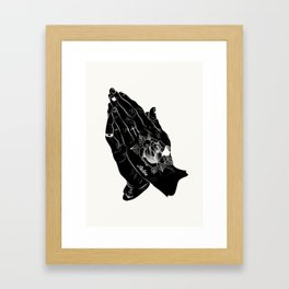 praying hands tattoo Framed Art Print
