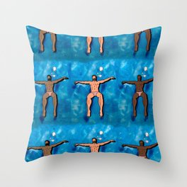 Pool Boys Throw Pillow