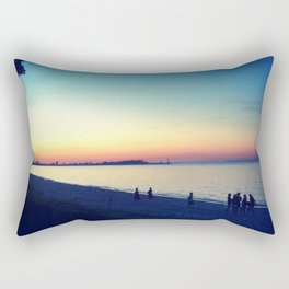 Lake Erie Sunset Rectangular Pillow