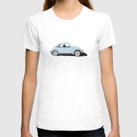 volkswagen T-shirts featuring Volkswagen Bug  by Gloria van de Glind