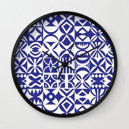 Geometric hydraulic tiles Wall Clock
