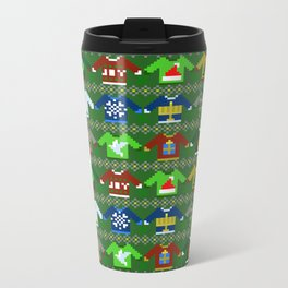 The Ugly 'Ugly Christmas Sweaters' Sweater Design Metal Travel Mug