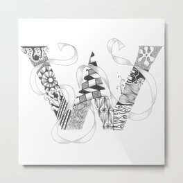 "Zenletter ""W"" Metal Print"