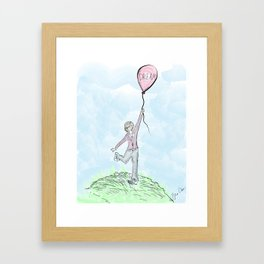"""""""Keep one foot on the ground but never let go of your dreams"""" Framed Art Print"""