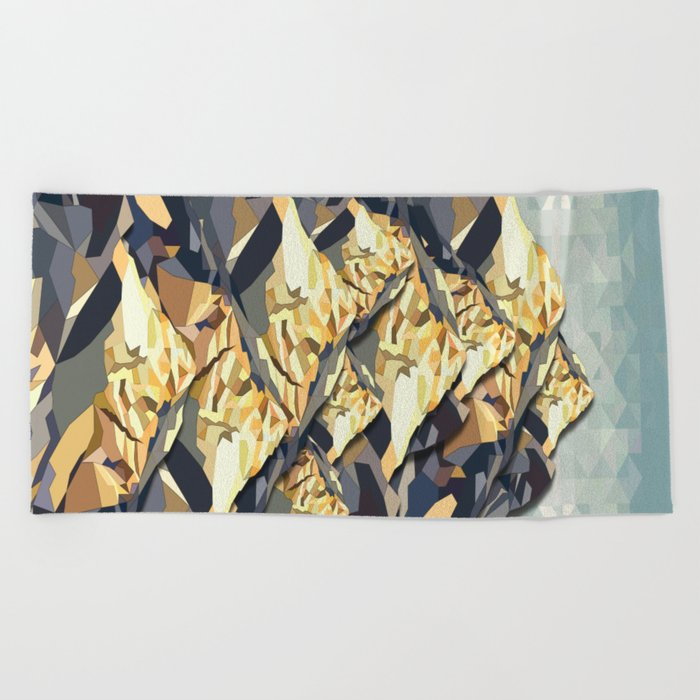 The Great, Great Night Mountain No. 6 Beach Towel