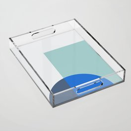 Mélange No. 1 Modern Geometric Acrylic Tray