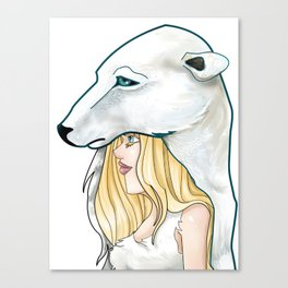 Winter, the Polar Bear God Canvas Print