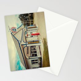 Standard Oil Station Odell Illinois Route 66 Restored Petrol Gas Service Station Stationery Cards