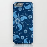 Floral Obscura Dark Blue iPhone 6s Slim Case