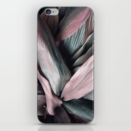Pink Plant Leaves iPhone Skin