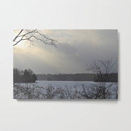 Pocono Lake Metal Print