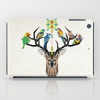 yetiland iPad Cases featuring deer birds by Manoou
