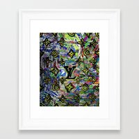 lv Framed Art Prints featuring LV by JANUARY FROST