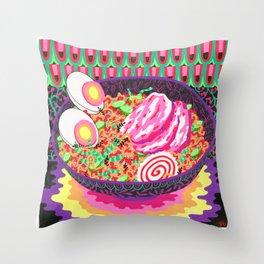 Neon Ramen Throw Pillow