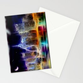 Starry Night New York City Stationery Cards