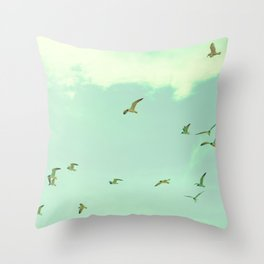 Waves in the Sky Throw Pillow